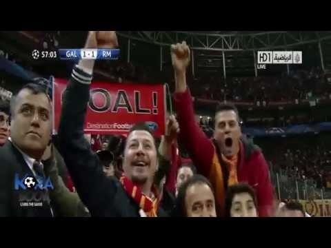 Galatasaray vs real madrid 3-2 Goals and Highlights (9_4_2013)