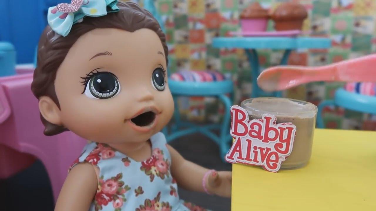 Danone Yogurte de Chocolate E  Suco para Bonecas Baby Alive Amandinha e Mel