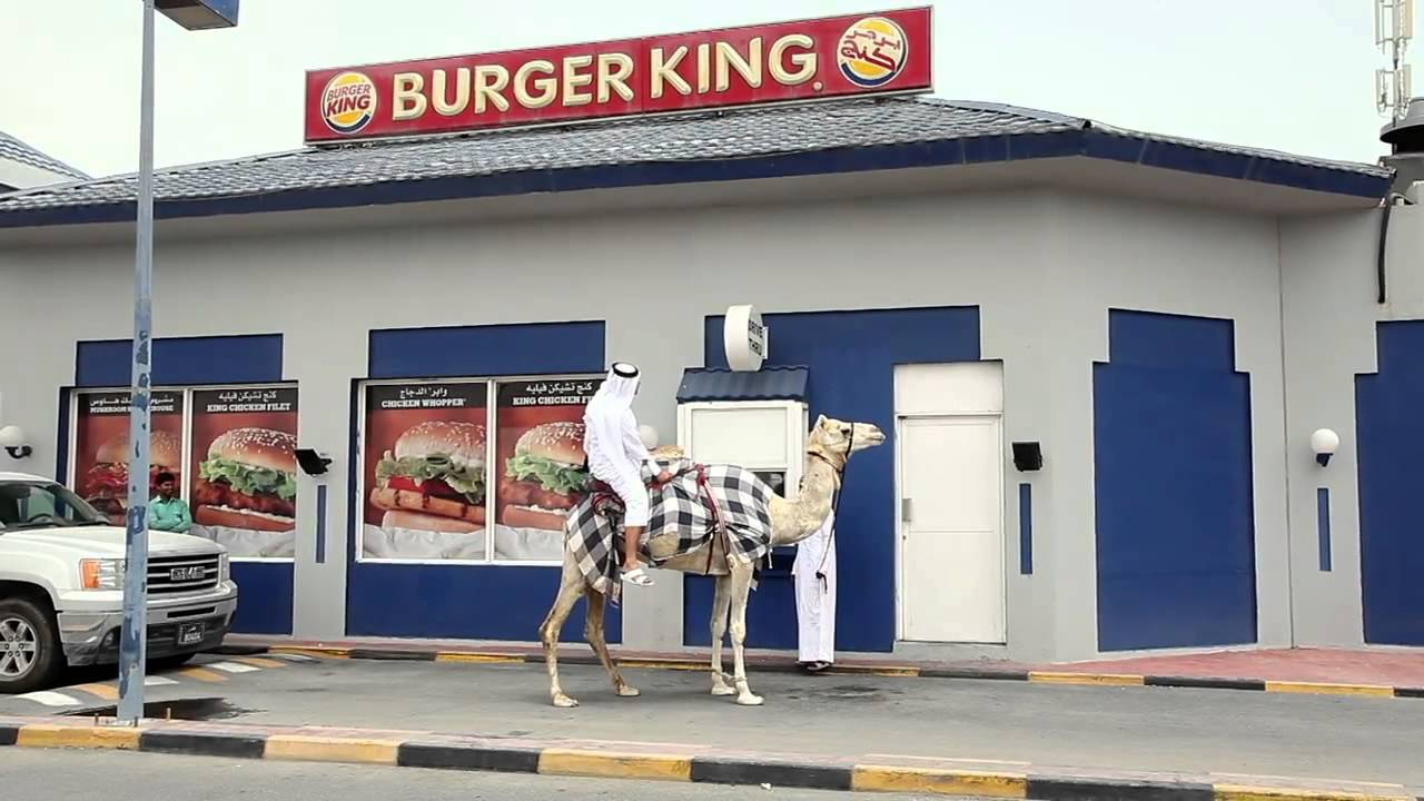 Funny Burger King: Man Drives CAMEL Through Burger King