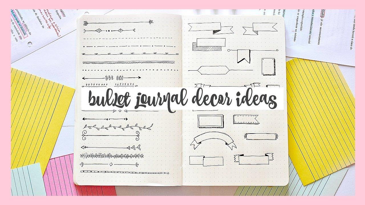 35 BULLET JOURNAL DOODLES // Decor Ideas