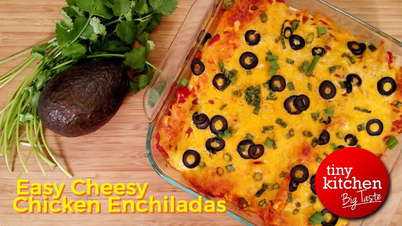 Easy Cheesy Chicken Enchiladas // Tiny Kitchen Big Taste