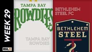 Tampa Bay Rowdies Vs. Bethlehem Steel FC September 21 2019