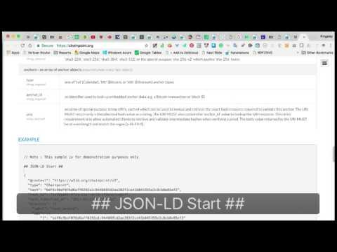 Using Nanotation to aid understanding of JSON-LD Example re. Coinchain