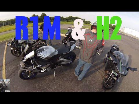 Yamaha R1M and Kawasaki H2's @ Bike Night: Motovlog