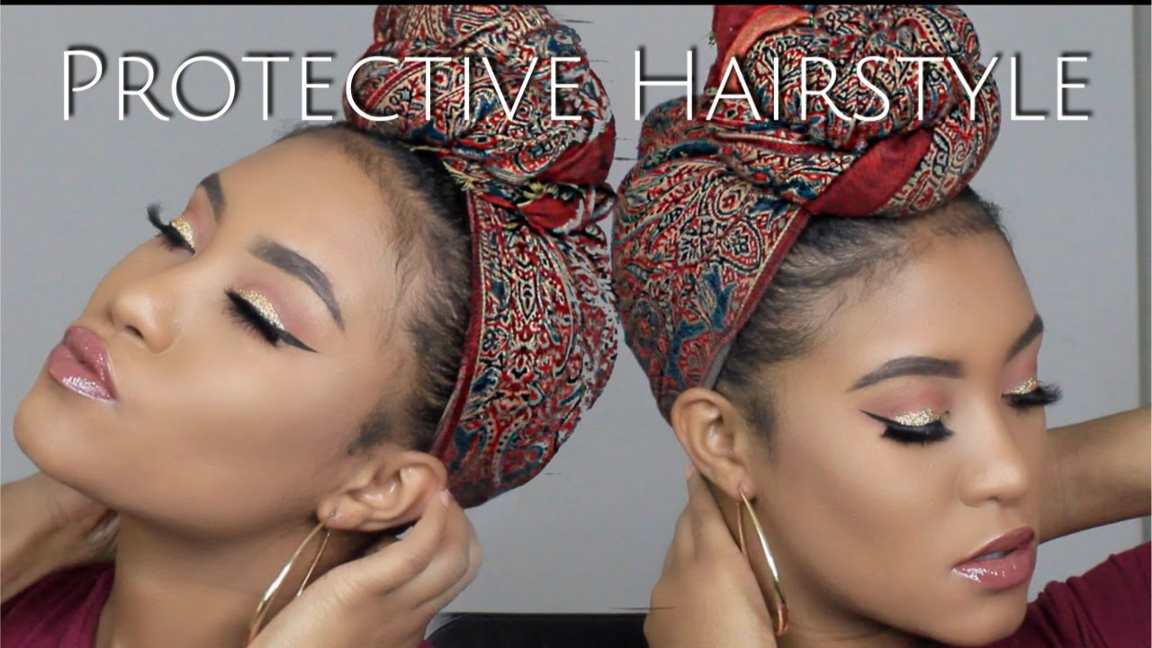 How To Tie A Turban Headscarf Short Natural Hair Youtube