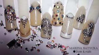 Как украсить ногти стразами. Урок маникюра №1 от Марины Батицкой