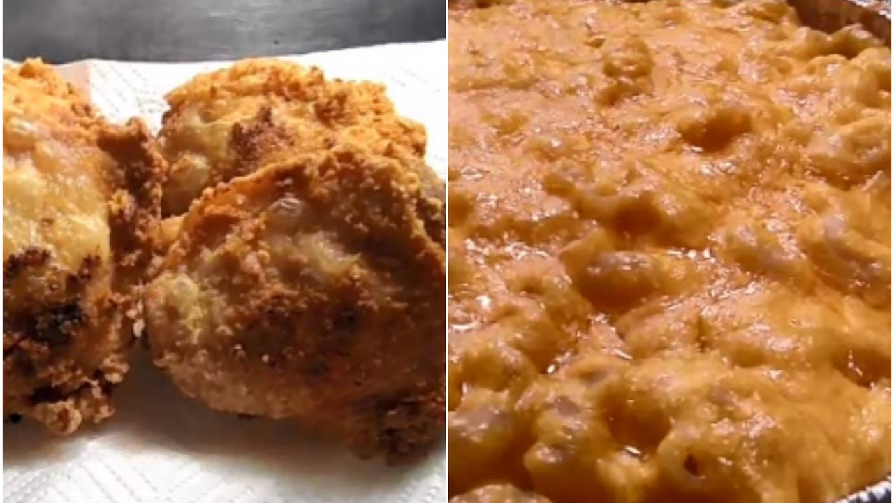 How To Make Southern Fried Chicken And Easy Baked Macaroni ...