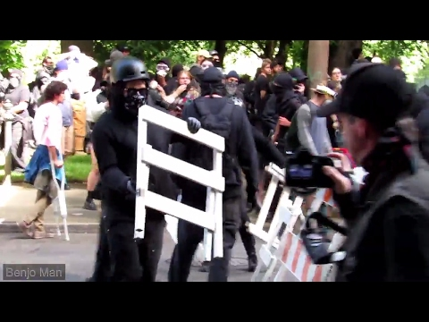 Antifa Shows Up With a Guillotine