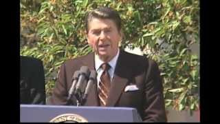 Rare Footage of President Ronald Reagan Speaking the Gospel