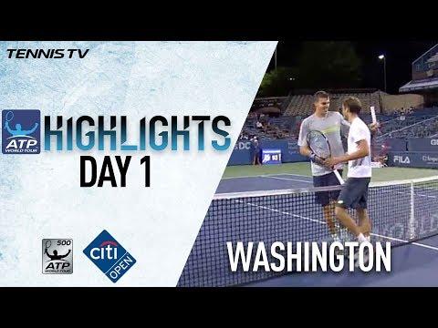 Highlights: Medvedev, Paul, Young Win At Washington 2017 Monday