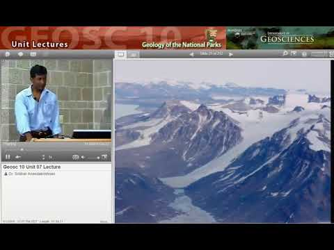 GEOSC10 Unit 7 Lecture: Tearing Down Mountains, glaciers, glaciation & ice ages