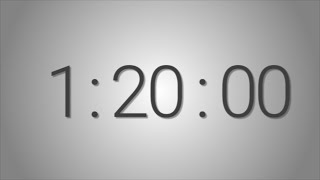 80 Minutes (1 hr. 20 min.) countdown Timer - Beep at the end  Simple Timer (eighty min)