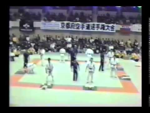 極真会館 1987年第1回京都大会(4/7)試割り(kyokushin 1987 Kyoto) 滋賀空手