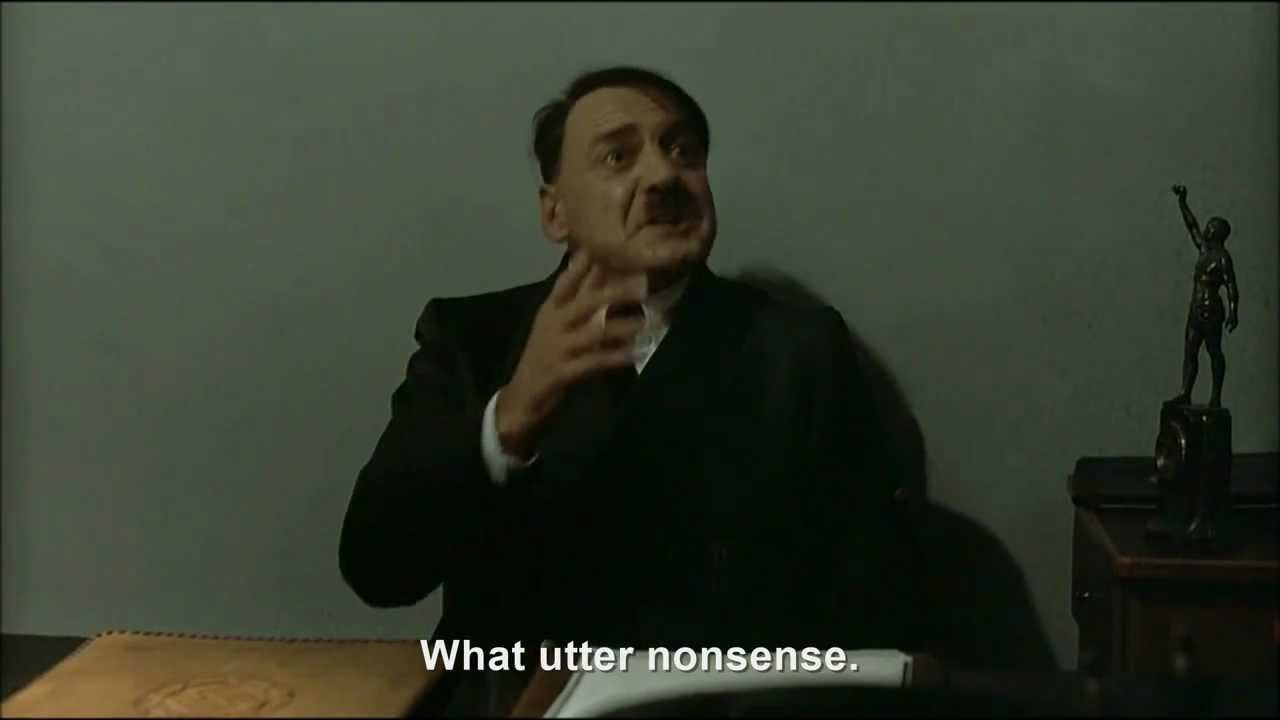 Hitler is informed the world will end tomorrow