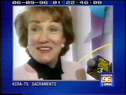 KCRA 1996 - Elizabeth Dole Campaign Interviews - Channel 3 Sacramento 90s News