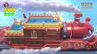 🚅 Super Mario 3D World: 3-BOSS The Bullet Bill Express 3 Stars & Stamp 100% Walkthrough Gameplay