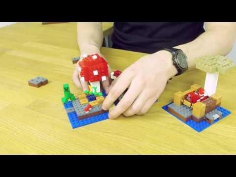 The Mushroom Island 21129 - LEGO Minecraft - Model Presentation ...