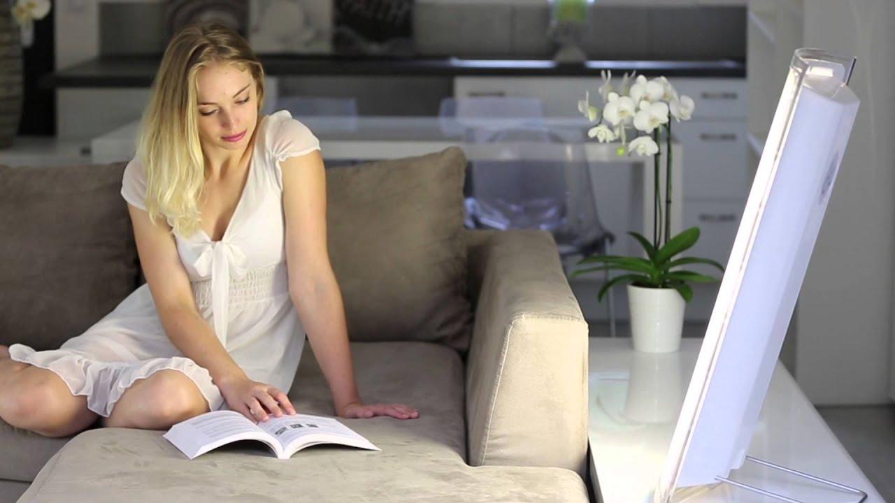 lichttherapie dayvia lichttherapielampe dayvia ice 160 youtube. Black Bedroom Furniture Sets. Home Design Ideas