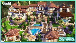 OVER THE TOP MEDITERRANEAN MANSION 🌞 [No CC]- Sims 4 Speed Build | Kate Emerald