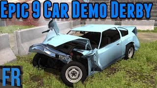 Epic 9 Car Demo Derby - BeamNG Drive