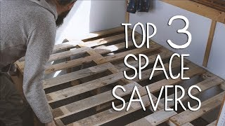 Top 3 Space Saving Ideas | Off Grid Tiny Cabin