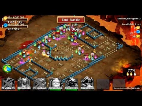 Castle Clash Insane Dungeon 2-1 : 3 Flames, No Mino. Unlocking Goblet Of Life