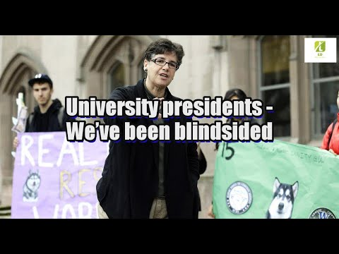 University presidents: We've been blindsided