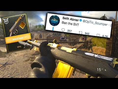 SVT 40 is so GOOD, will it be NEXT on the PRO PLAYERS BAN list... (COD WW2 SVT 40 Best Class Setup!)