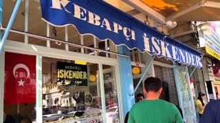 Famous Turkish İskender Kebab In Bursa / Turkey