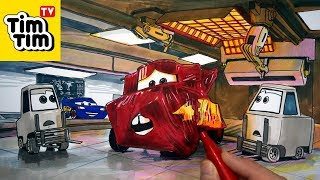How to draw CARS 3 Mater with Lightning McQueen