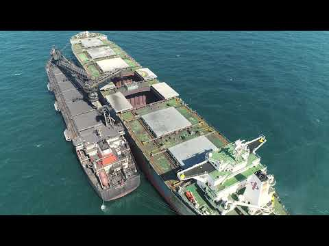 Magnetite Concentrate Transhipment Operation, MV Donnacona, Cape Preston, Western Australia