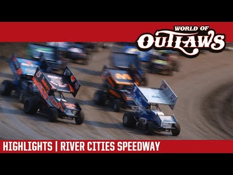World of Outlaws Craftsman Sprint Cars River Cities Speedway June 16, 2017 | HIGHLIGHTS