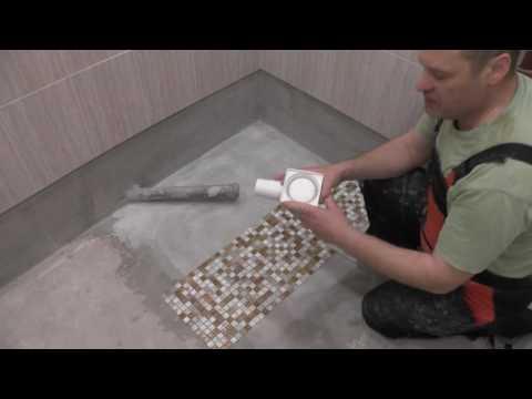 Как сделать душевой поддон из плитки, часть1