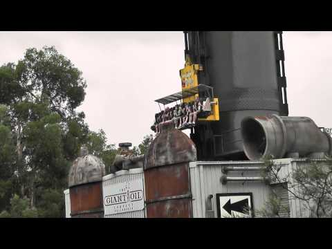 Dreamworld Ride Gold Coast - The Giant Drop and The Tower of Terror II Compilation of Scenes