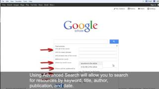How to use Google Scholar for Academic Research