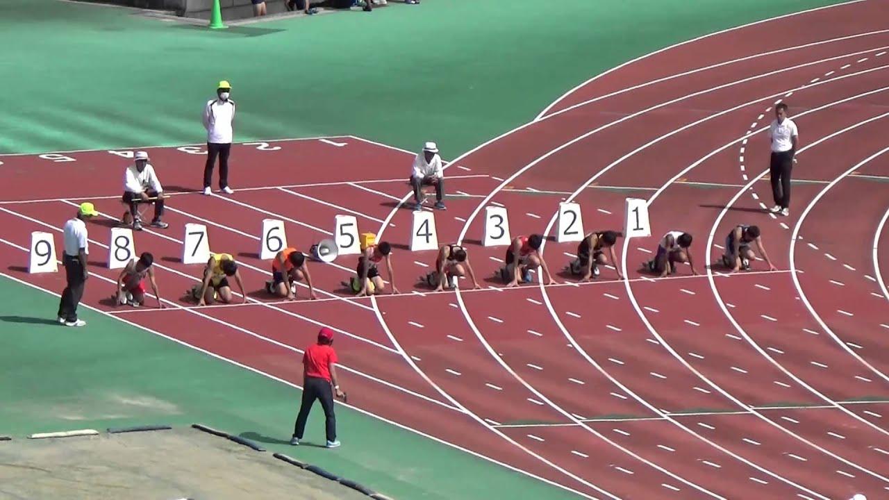 ⑥【男子1年100m決勝】福岡市 ...