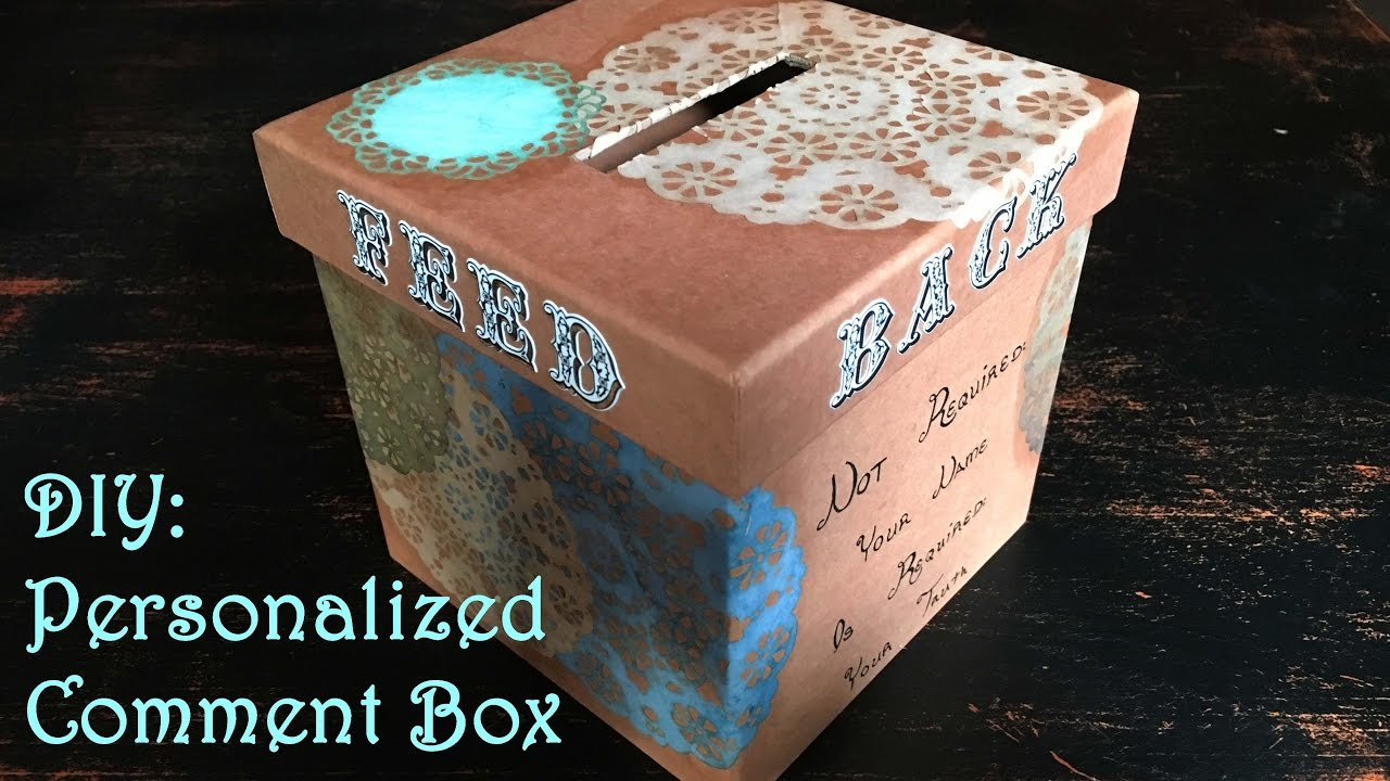 Diy Personalized Comment Box Youtube