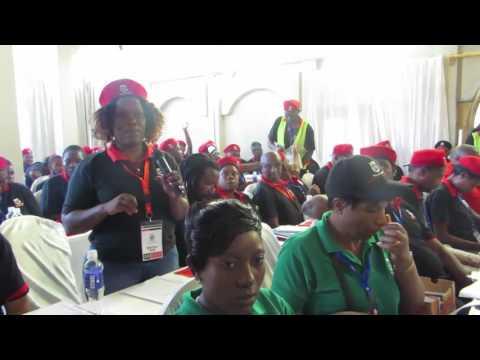 Cde Noku and Cde Mututu speak on Nyaradzo Funeral Services