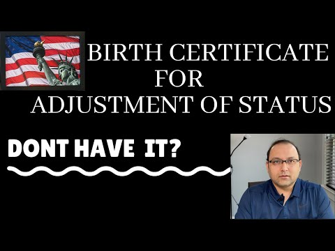 Birth Certificate for I 485 ALTERNATIVES - Current Trend in AOS application