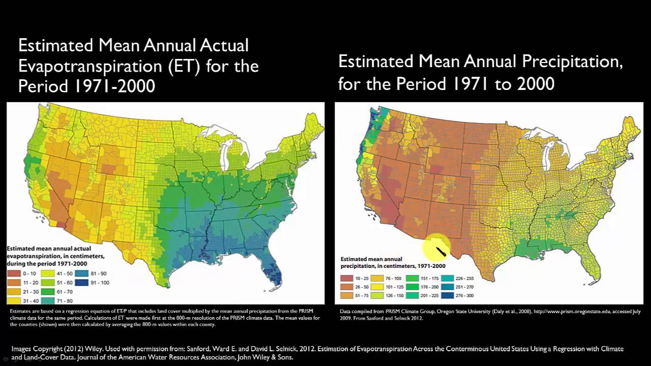 Evapotranspiration And Lanscape Plant Water Needs YouTube - Us evaporation map