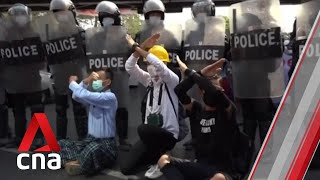 Myanmar coup: 20-year-old woman who was shot in head by police during protest dies