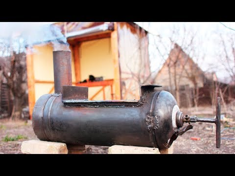 ПЕЧКА печь в БАНЮ для БАНИ из ГАЗОВОГО БАЛЛОНА