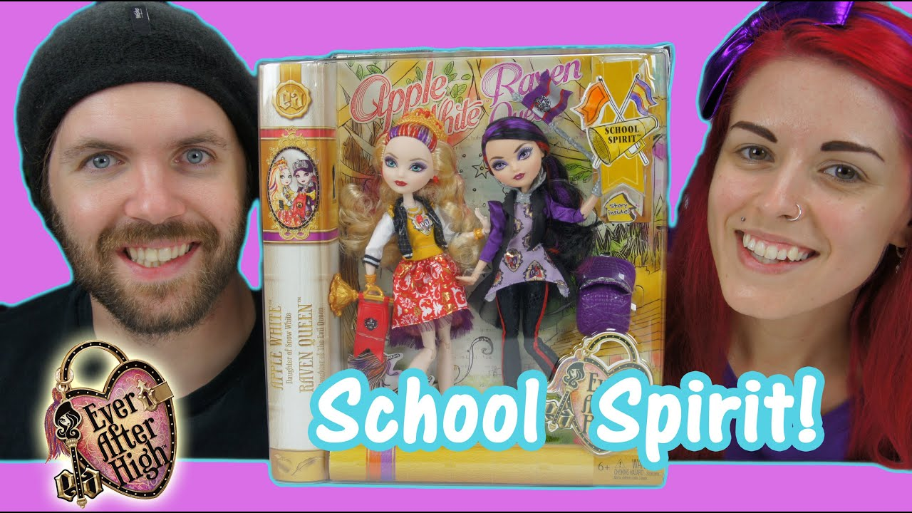 ever after high school spirit apple white and raven queen pack ever after high school spirit apple white and raven queen 2 pack doll review