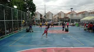 อารีบาบา (พี่พจน์+ต้นเดช+แชมป์) สีม่วง VS  ฮอนด้า (พี่บอย+บอล+ที) สีเหลือง บ้านเอื้อคัพ ครั้งที่ 2
