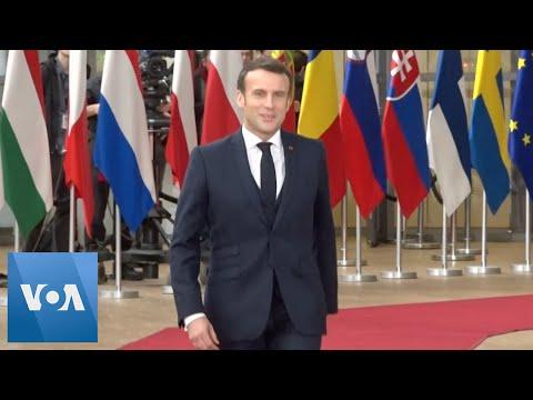 Macron, Merkel, Other EU Leaders Arrive For Budget Summit