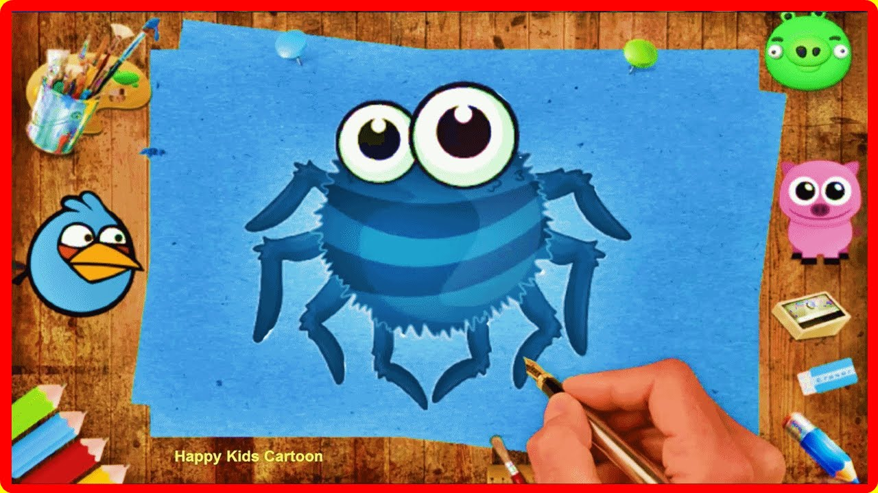 Itsy Bitsy Spider Coloring Pages For Kids - Coloring Book - Kids ...