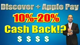 Discover Offers Apple Pay Cash Back 10-20%