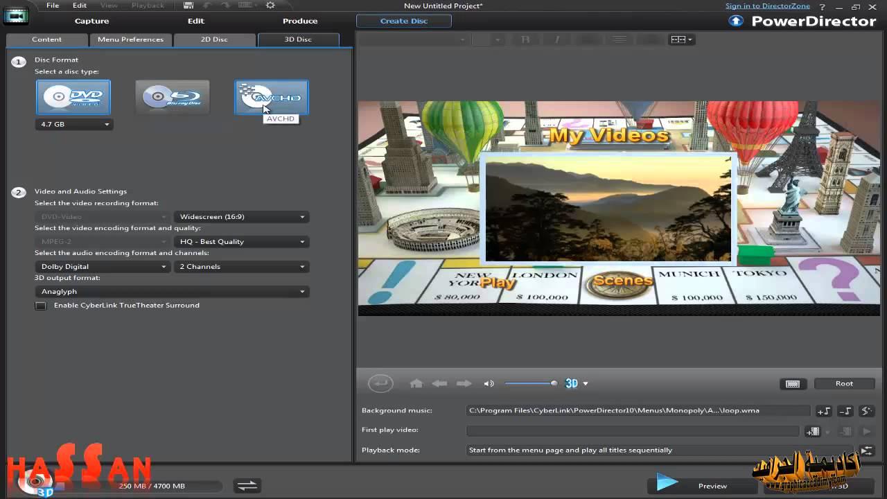 درس 32 دورة تعلم برنامج مونتاج الاعراس Cyberlink Powerdirector 10 Ultra Youtube