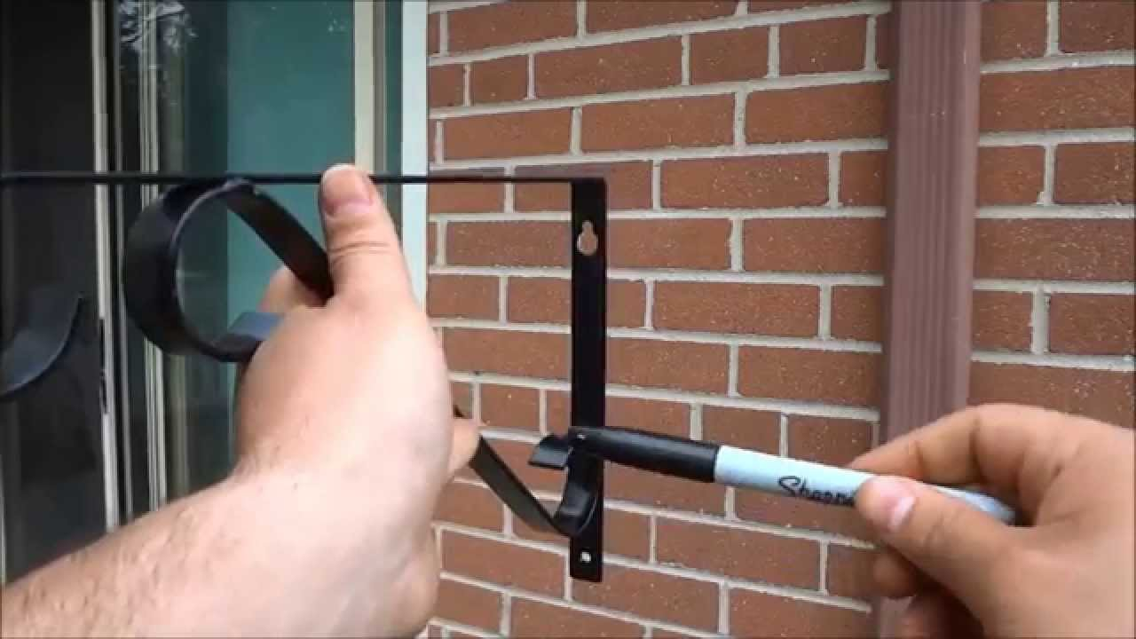 How To Install A Plant Hanger On A Brick Wall Youtube