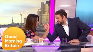 Jason Manford Arm Wrestles Susanna Reid | Good Morning Britain